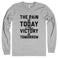 Pain And Victory-Unisex Heather Grey T-Shirt