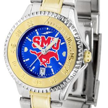 Southern Methodist University Mustangs Competitor Ladies Two-Tone AnoChrome Watch