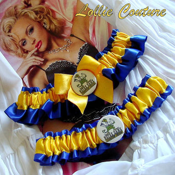 Notre Dame Garters Your choice of team and colors by lolliecouture