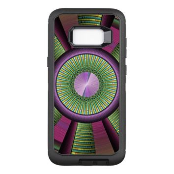 Round And Colorful Modern Decorative Fractal Art OtterBox Defender Samsung Galaxy S8+ Case