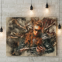 Commander Heda Art Poster, Lexa Poster Art, The 100 Watercolor Art poster print, Commander Lexa poster print