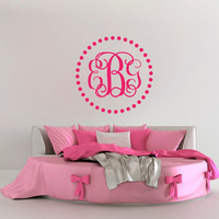 Personalized Monogram Wall Decal- Family Monogram Decal- Wedding Monogram Decal- Custom Monogram Decal- Initial Wall Decal Monogram M075