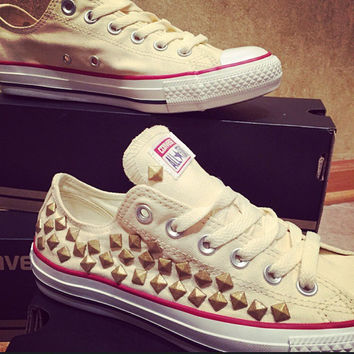 Custom Gold Studded Converse All Stars!! - Chuck Taylors! ALL SIZES & COLORS!!!