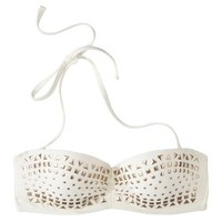 Xhilaration® Junior's Studded Push-Up Swim Top -Ivory