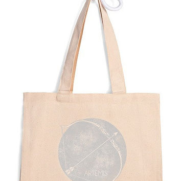 Symbol of Artemis Goddess of Hunting large tote bag