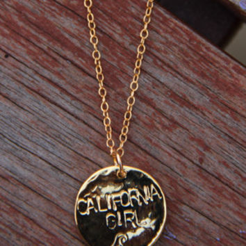 Gold California Girl Necklace