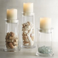 Fillable Cylinder Glass Pillar Candle Holders