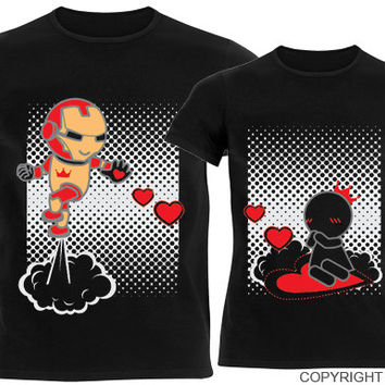 Toll BoldLoft® Keep Calm And Love Me™ His U0026 Hers Couple Shirts Black,Valentineu0027s