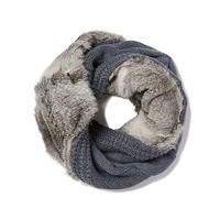 Tory Burch Large Cable-knit Fur Infinity Scarf