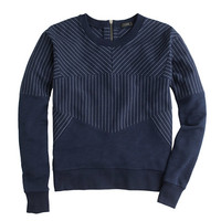 J.Crew Womens Pieced Pinstripe Sweatshirt