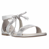 Rialto Robyn Flat Lace-up Sandals - Silver/Metallic