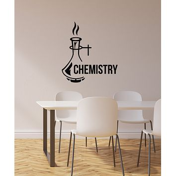Vinyl Wall Decal Chemistry Lab Decoration School Classroom Science Art Stickers Mural (ig5960)