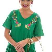 Kimi Embroidered Top, Green