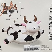 IT'S HUGE Inflatable Cow Swimming Pools Swim Floatation Device