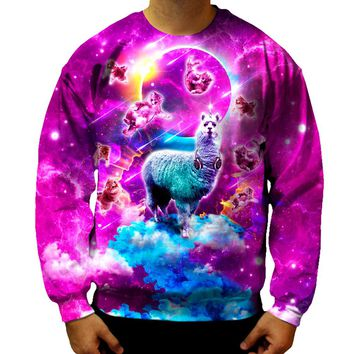 Llama And Kitties Sweatshirt