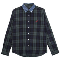 HUF - Classic Plaid Woven L/S Button- Up Shirt (Blackwatch)