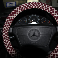 Burgundy and Beige Moroccan Cover Wheel . Steering Wheel Cover . Classic Cover Wheel.