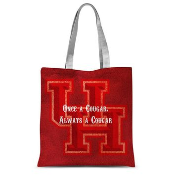 """Red Houston University """"Once a Cougar, Always a Cougar"""" Sublimation Tote Bag"""