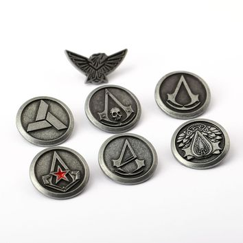 MS Jewelry Assassin's Creed Brooch Assassins Creed Pins Broches Brooches For Women Men Game Lapel Pin Gift