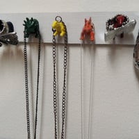 Wooden Dinosaur Heads Necklace or Jewelry Holder