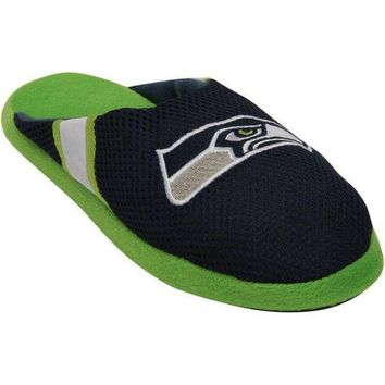 LMFON Men's Seattle Seahawks NFL Jersey Slippers