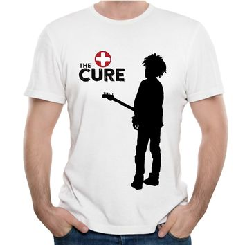The Cure Band T Shirt Post Punk Pop Rock Homme Tee Shirt Plus Size Novelty Man Camiseta