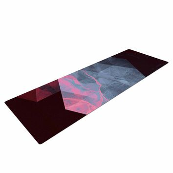 "Cafelab ""Dramatic Geometry"" Black Pink Geometric Yoga Mat"