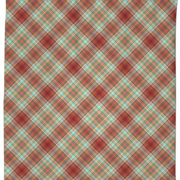 70s Plaid Custom Shower Curtain