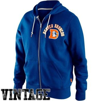 Nike Denver Broncos Retro Full Zip Hoodie - Royal Blue