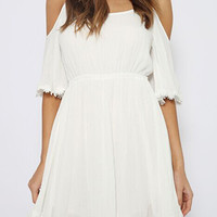 White Off Shoulder Sun Dress