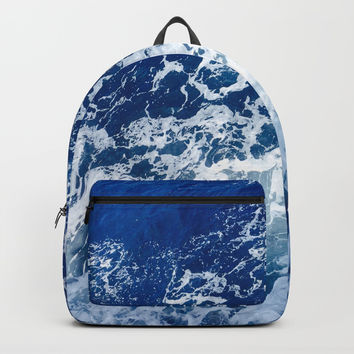 Sea Waves Backpack by Jenna C.