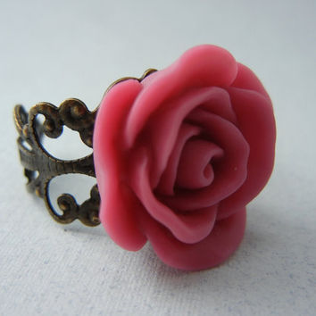 Resin Flower Ring - Flower Ring - Resin Flower Jewelry
