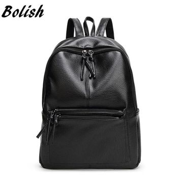 Women's Travel Backpack/Rucksack (Soft PU Leather)