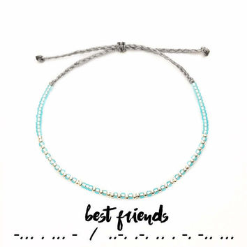 Best Friend Gift - Friendship Bracelet - Best Friend Birthday Gift - BFF Gifts - Best Friend Bracelet - Beaded Bracelet - Mint Bracelet