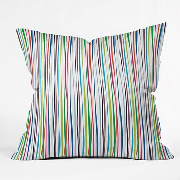 Vy La Bold Breezy Ribbons Throw Pillow