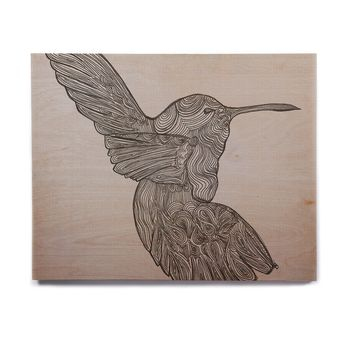 "Belinda Gillies ""Hummingbird"" Birchwood Wall Art"