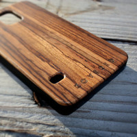 Galaxy S5 Case – Galaxy S5 Wooden Case – Wood Galaxy s5 Case – Handmade Samsung Galaxy s5  Zebrawood – Ultra Slim Case