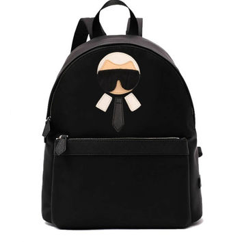 Indie Designs Karl Lagerfeld Embroidered Backpack