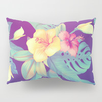 Tropical flowers Pillow Sham by printapix