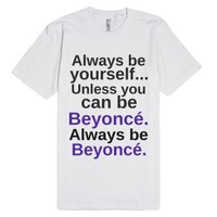 Be yourself-Unisex White T-Shirt