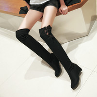 Lace Over the Knee Boots Wedges Women Shoes Fall|Winter 7366