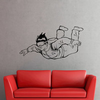 Skydiver Extreme Sport Wall Stickers Decals Murals Sticker Home Art Bedroom Decor (35iiu)