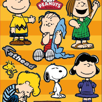 Peanuts Character set Fathead Wall Graphic Case Pack 3