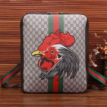 Perfect Gucci Women Men Print Leather Shoulder Bag Backpack