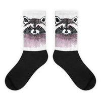 Black foot socks Raccoon