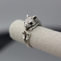Vintage Adjustable Squirrel Animal Rings