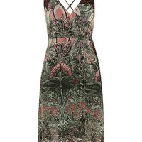Mix Floral Wrap Slip Dress - Topshop