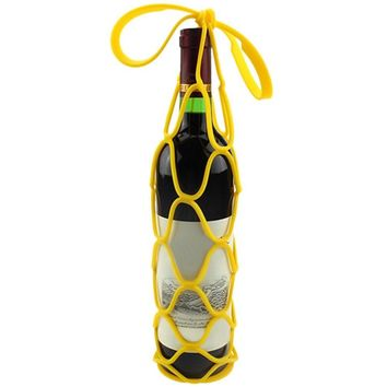 Silicone Mesh Bag fo Wine Bottle