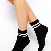 ASOS 2 Stripe Ankle Sock