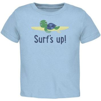 CREYCY8 Sea Turtle Surf's Up Summer Cute Toddler T Shirt